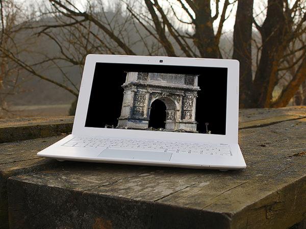 Arco di Traiano - Nuvola 3D - Fotogrammetria - Fotogrammetria - Sistema VeRa - Topoprogram