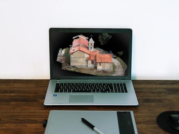 Chiesa Sant'Elia - Nuvola 3D - Fotogrammetria - Sistema VeRa - Topoprogram