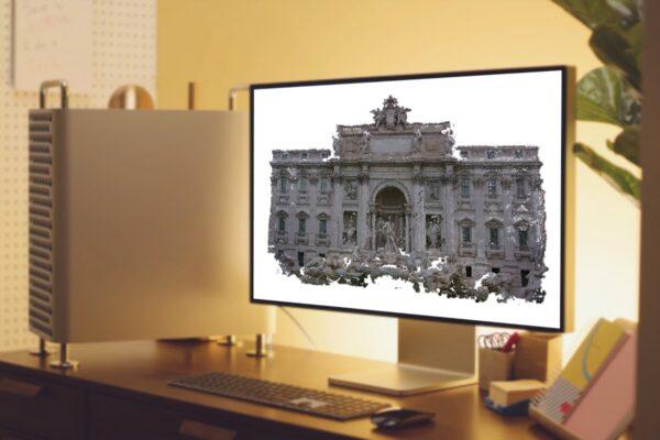 Fontana di Trevi - Nuvola 3D - Fotogrammetria - Sistema VeRa - Topoprogram