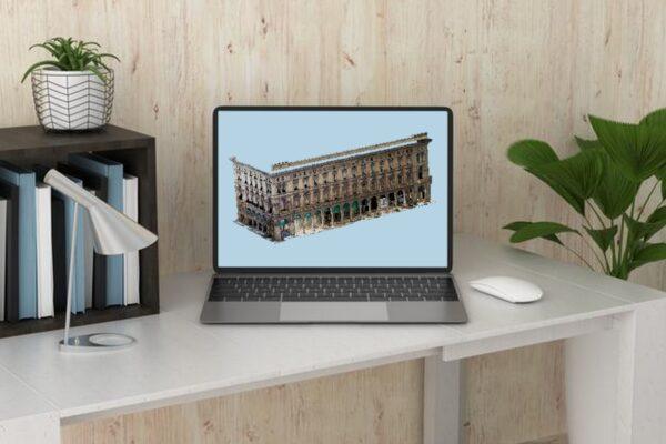 Palazzo in Piazza Duomo a Milano - Nuvola 3D - Fotogrammetria - Sistema VeRa - Topoprogram