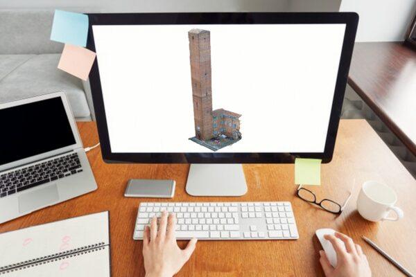 Torre - Nuvola 3D - Fotogrammetria - Sistema VeRa - Topoprogram