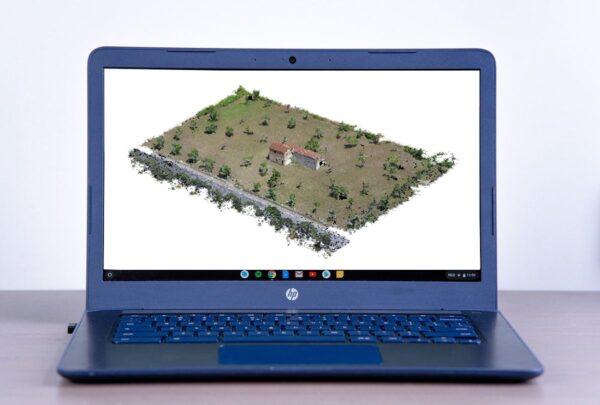 PC con Nuvola 3D Casetta rurale